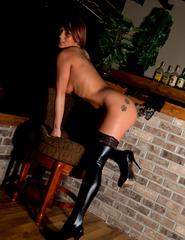 Nikki In Black Corset - 03