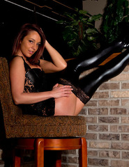 Nikki In Black Corset - 07
