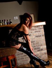 Nikki In Black Corset - 13