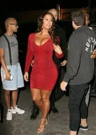Amber Rose Showing Cleavage And She Has HAIR!