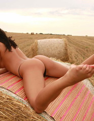 Sasha Outside In The Field - 05