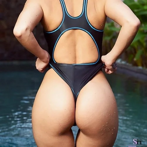Melisa Mendini Tight Swimsuit Ass